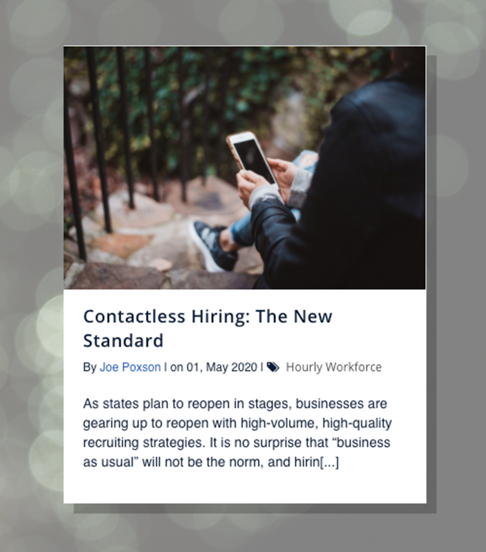 contactless hiring blog tile image covid landing page